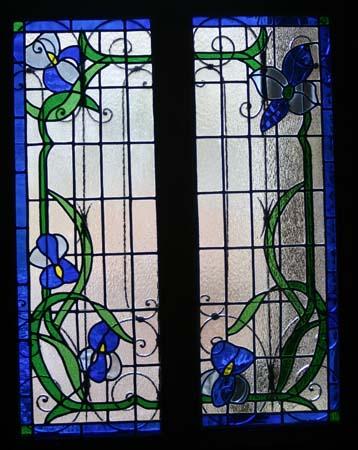 Porte fenêtre - Iris bleus