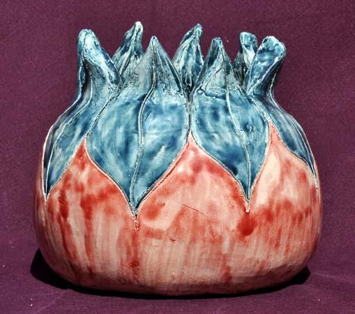 Vase en faIence émaillée