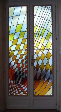 Porte fenêtre intérieure - rayons