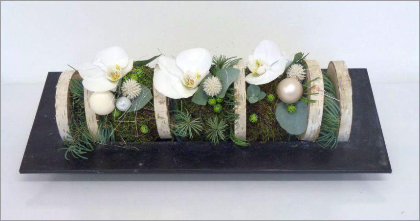 Décembre 2015 - Stage de Noël : Bûche fleurie