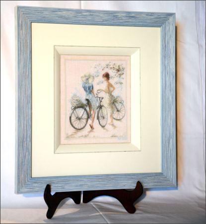 """""""La bicyclette bleue"""" point compté 1 fil"""