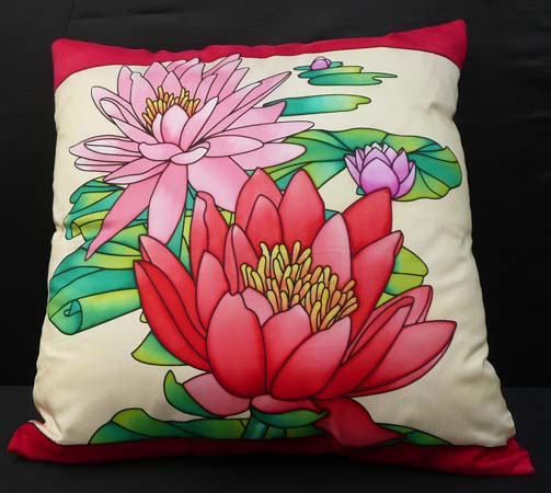Coussin nénuphars