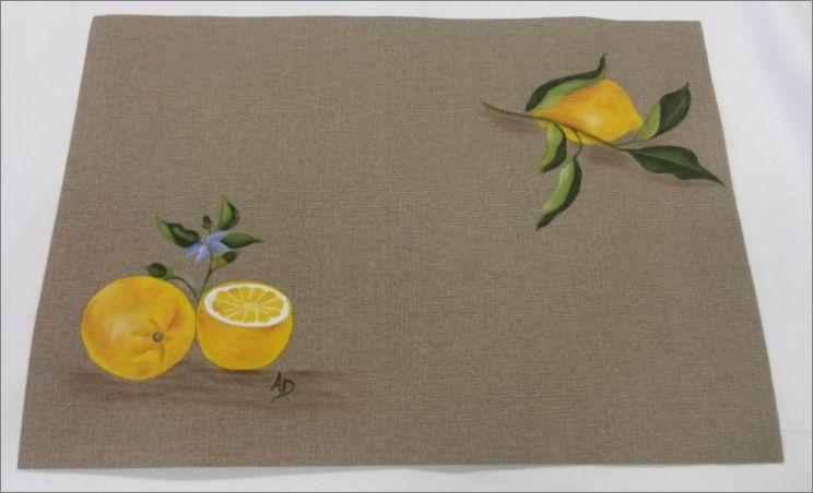 Set de table citronné