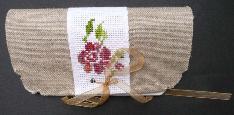 Porte serviette rose