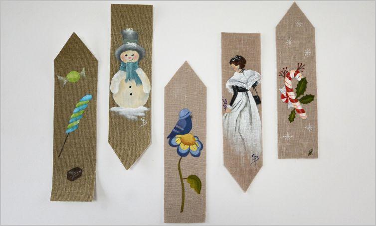 2016 Peinture sur lin : Marque-pages