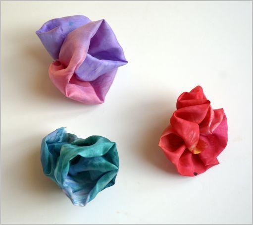 Peinture sur tissus : Roses en soie
