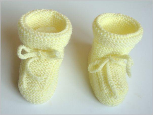 Tricot : Chaussons bébé