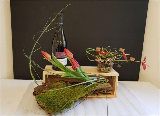 Décor de table sur le thème du vin
