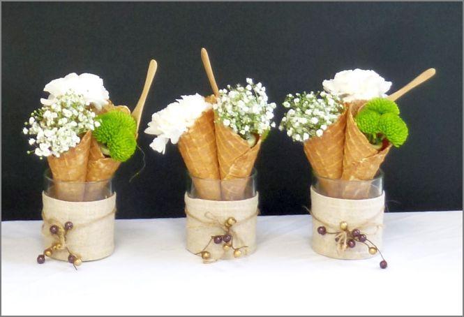Fleurs en cornets