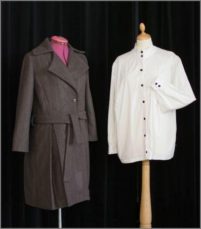 Manteau et chemisier