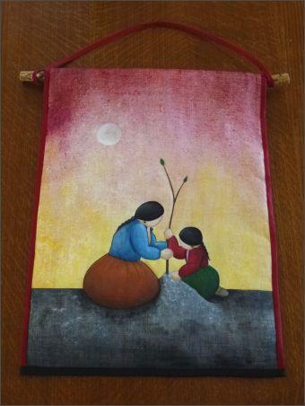 d'après peinture équatorienne
