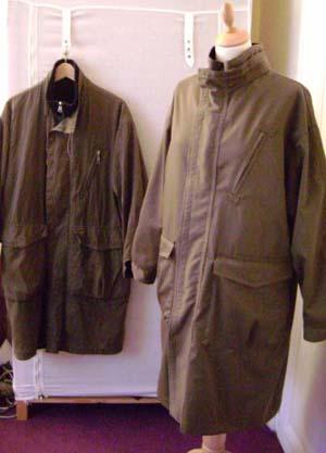 Manteau usé reproduit à l'identique