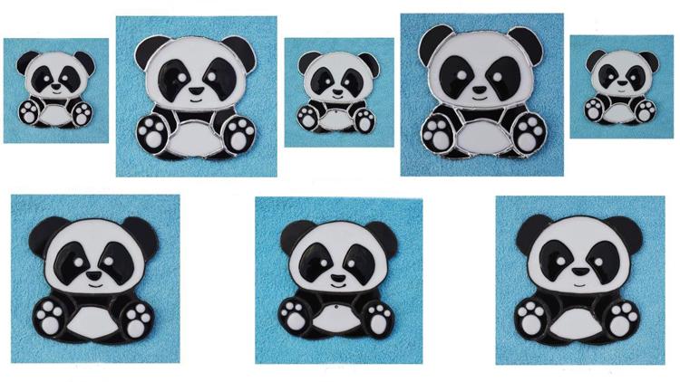 Pandas en Fusing et Tiffany