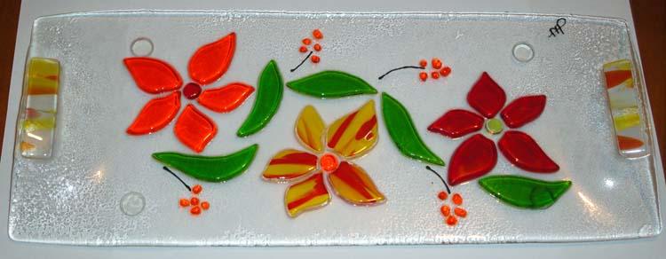 Plat à cake bouquet floral