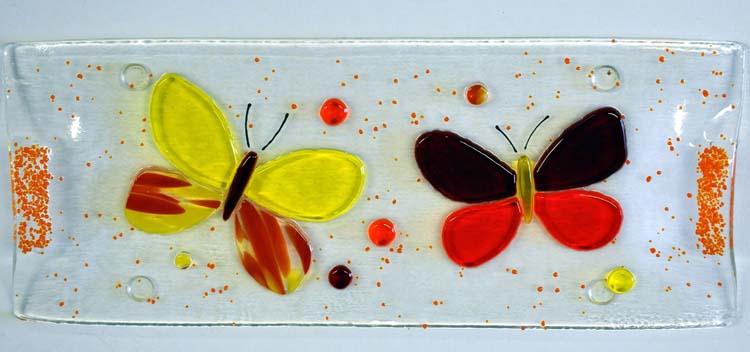 Plat à cake papillons