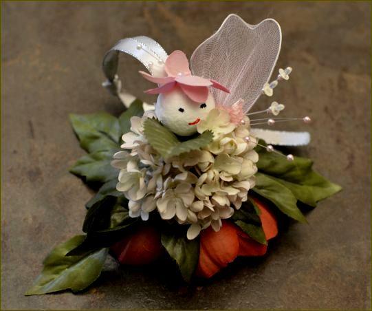 Ikebana : poupée fleur